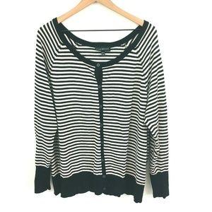Lane Bryant Stripe Cardigan Sweater
